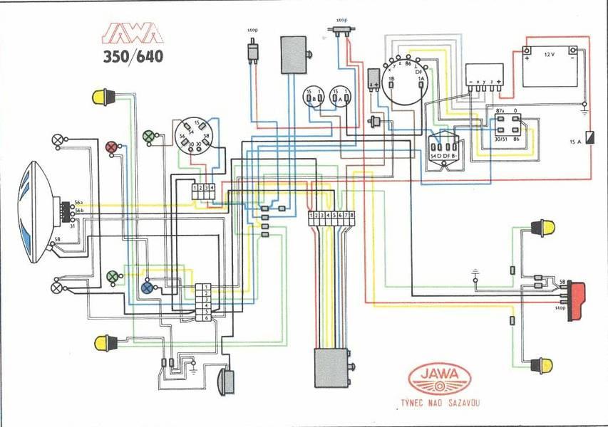 Схема проводки на ява 12в